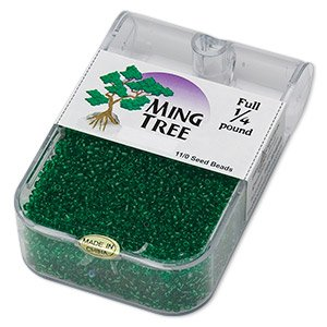 Ming Tree full 1/4 lb 11/0 seed beads Green