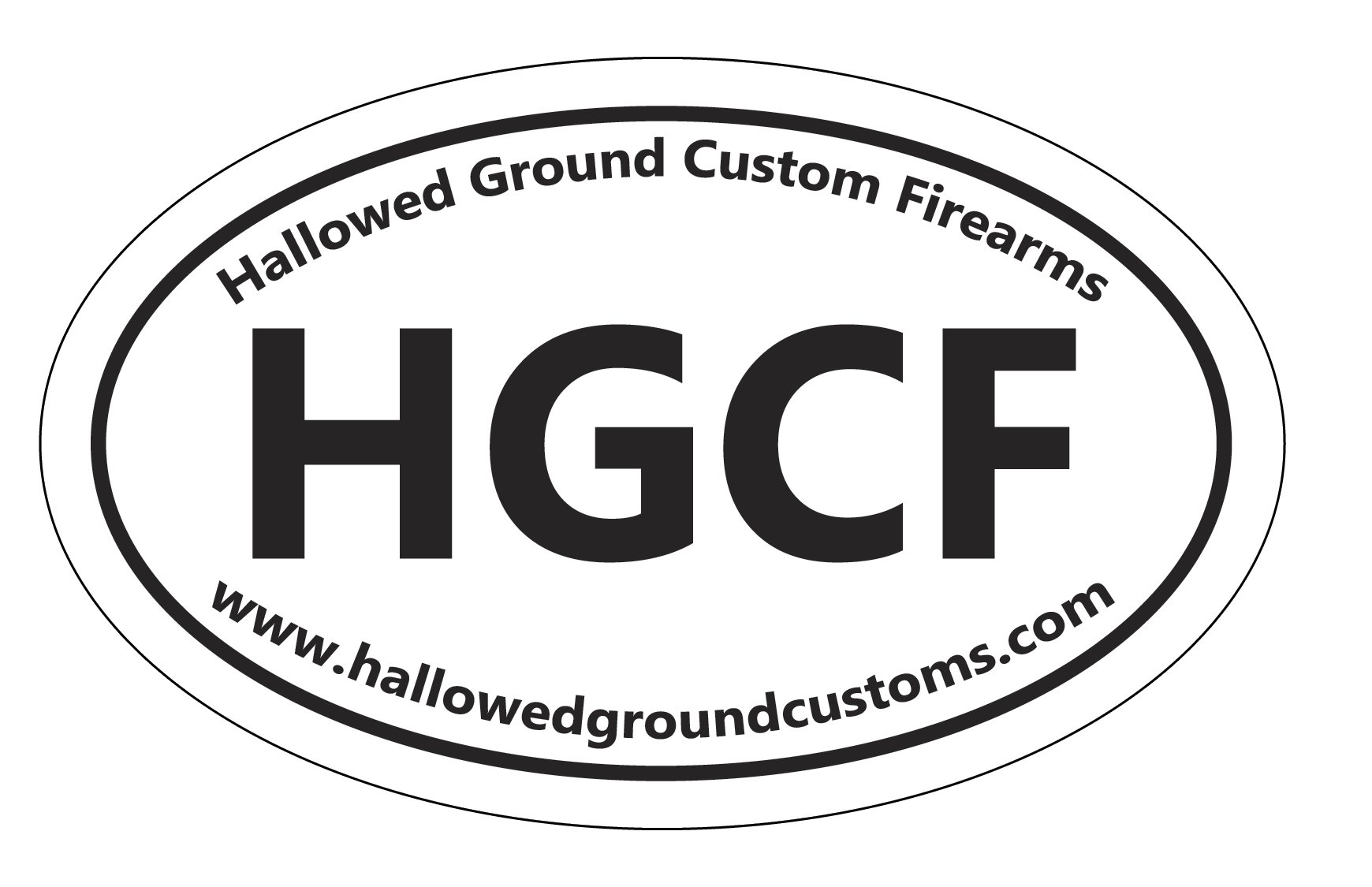 HALLOWED GROUND OVAL DECAL