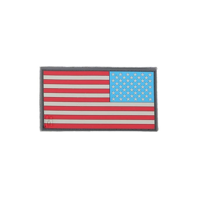 REVERSE USA FLAG PATCH - SMALL (FULL COLOR)