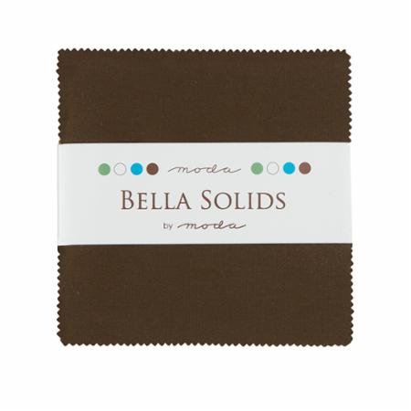 Bella Solids Charm Pack Brown