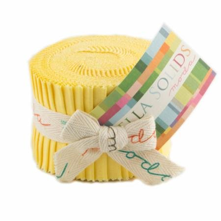 Bella Solids Junior Jelly Roll 30s Yellow