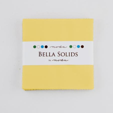 Bella Solids Charm Pack 30s Yellow