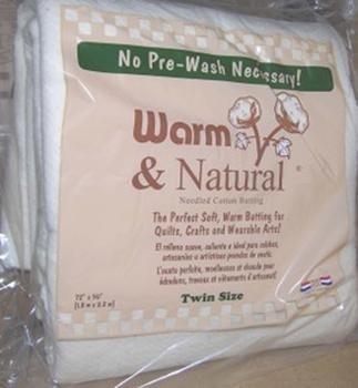 Warm & Natural Batting - Twin 72x90