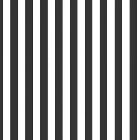 Half Inch Black and White Stripe