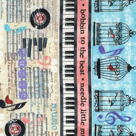 Cream Sew Musical Border