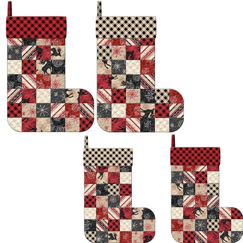 MSQC Plaid for the Holidays Christmas Stockings Kit