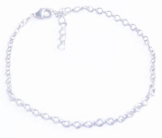 Rhodium Plated Bracelet (Adjustable)