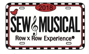 Row by Row Souvenir License Plate Pin