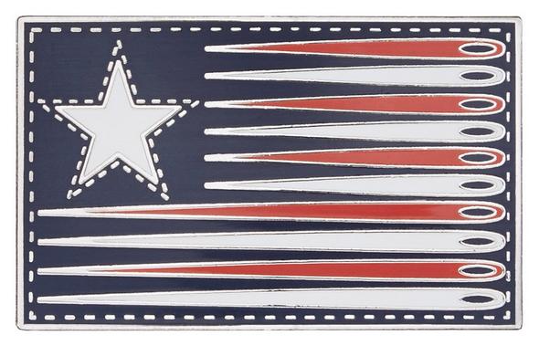 Sewing Flag Pin