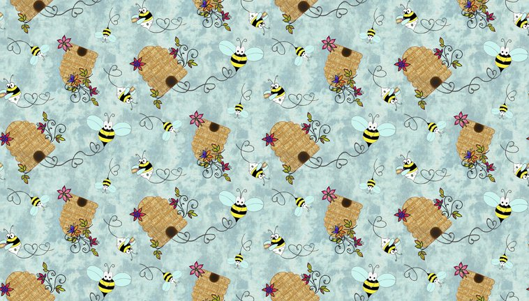 Quilting Treasures Bee Boppin Beehives Fabric by Embellish Express