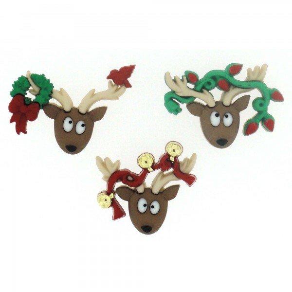 Dress It Up Oh Deer Buttons