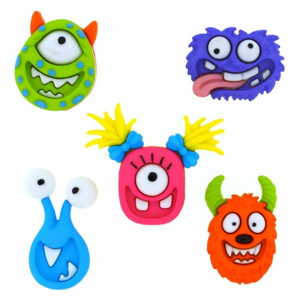 Dress It Up Mad for Monsters Buttons