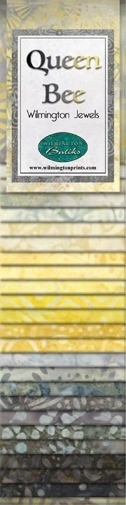 Wilmington Jewels Queen Bee Batik Fabric Strips