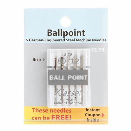 Klasse Machine Needles Ballpoint 80/12