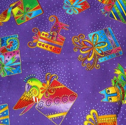 Clothworks Bountiful Blessings Presents Fabric by Laurel Burch