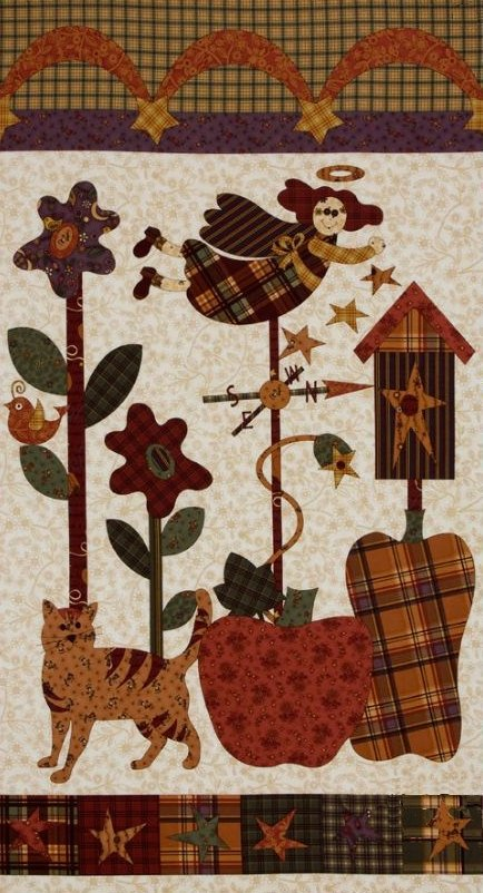 The Buggy Barn Pumpkin Pie Fabric Panel