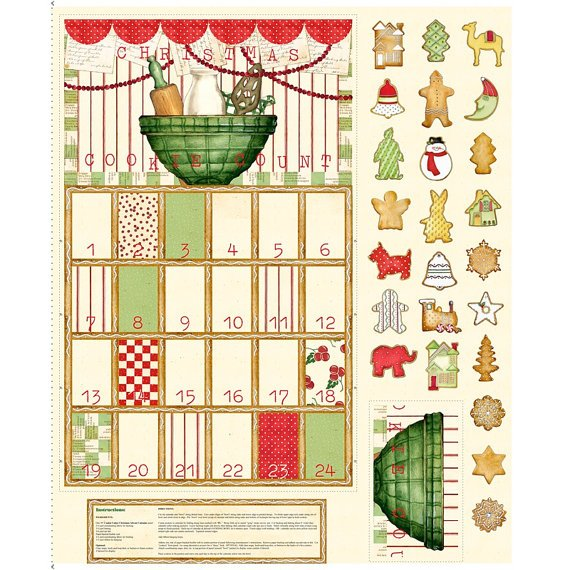 Quilting Treasures Fabric Panel Cookiecount Calendar