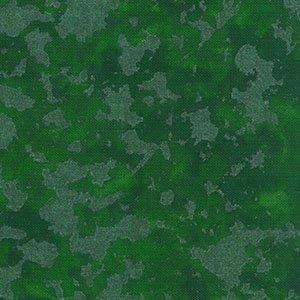 Blank Quilting Crystalline Green Fabric by Mark Hordyszynski