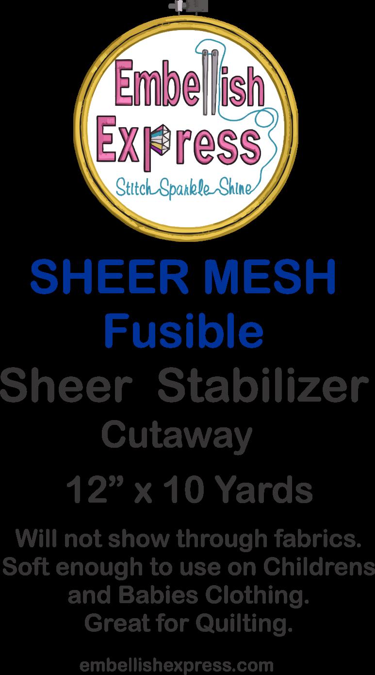 Embellish Express Fusible Sheer Mesh Stabilizer
