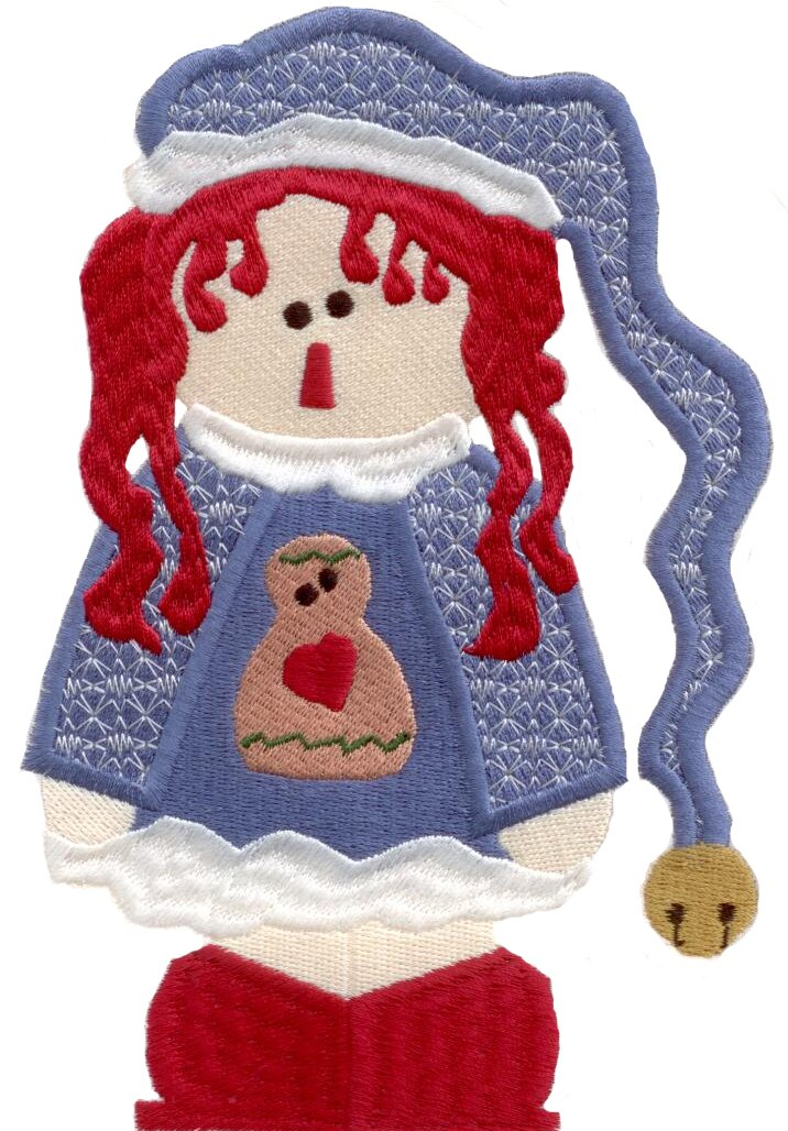Raggedy Christmas Machine Embroidery CD