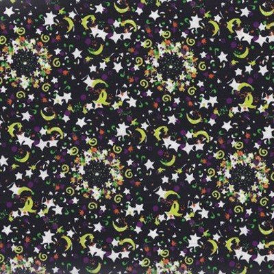 Michael Miller Glow In the Dark Hocus Pocus Fabric by Mark Hordyszynski
