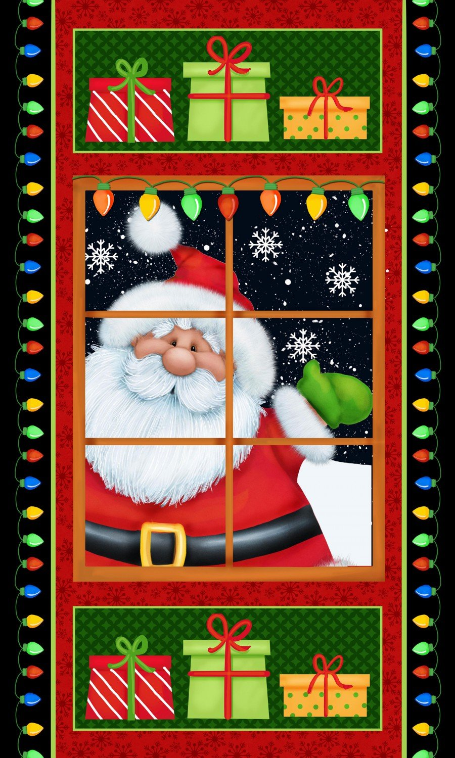Henry Glass Jolly Ole' St Nick Fabric Panel by Shelly Comiskey