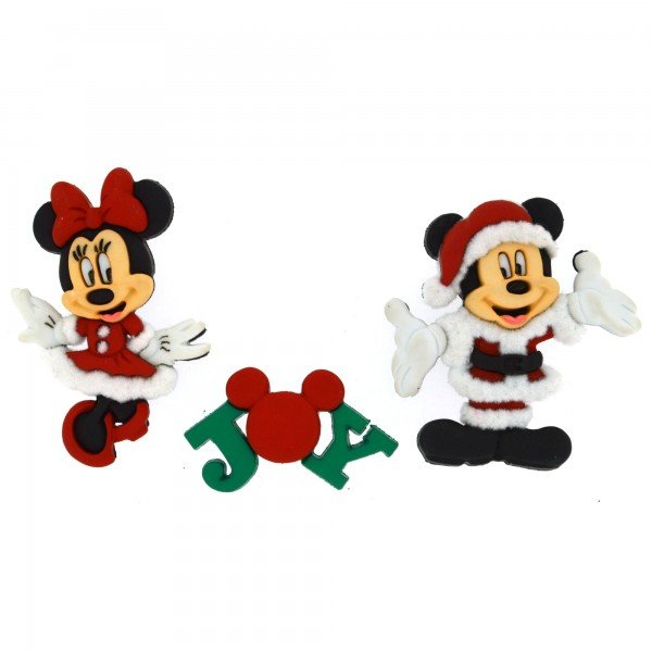 Dress It Up Mickey and Minnie Mouse Buttons