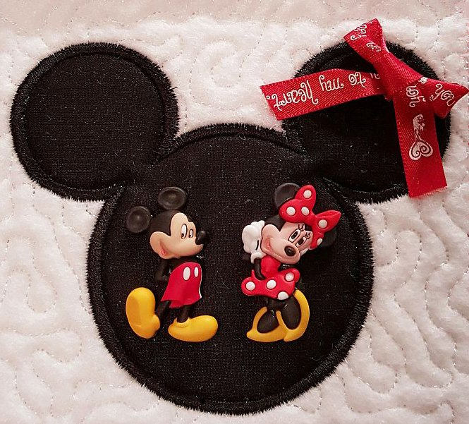 Disney Mickey Mouse Quilted Block