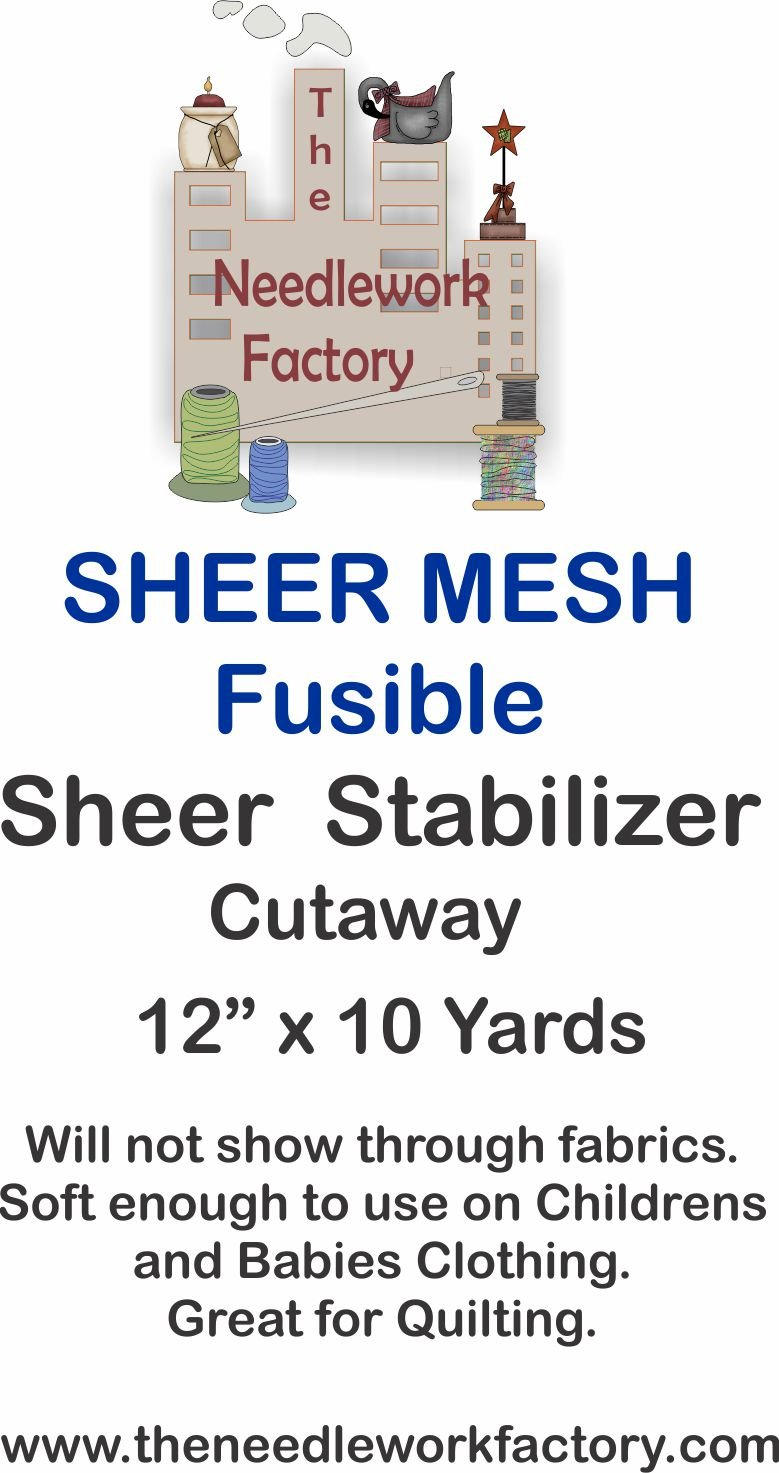The Needlework Factory Fusible Sheer Mesh Stabilizer