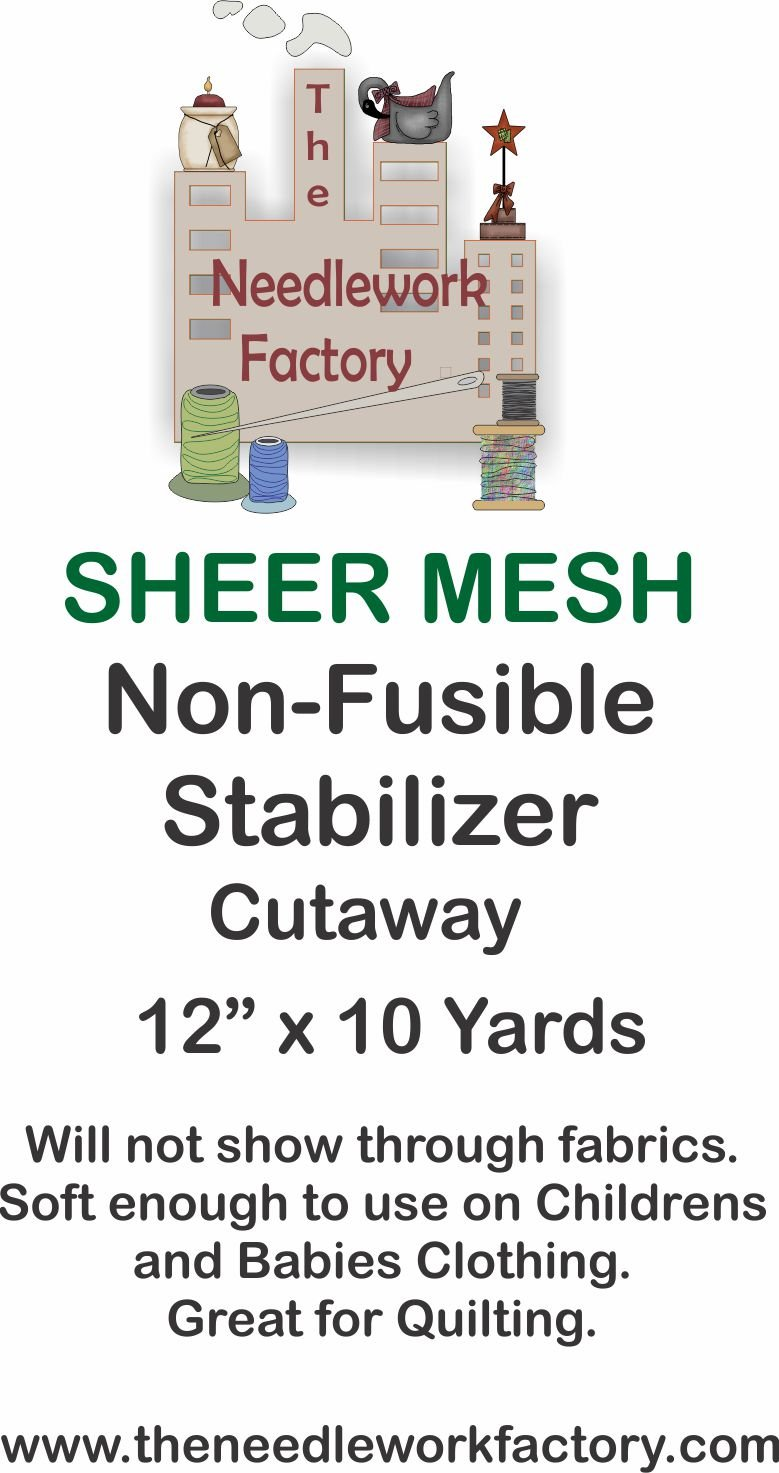 The Needlework Factory Sheer Mesh Stabilizer