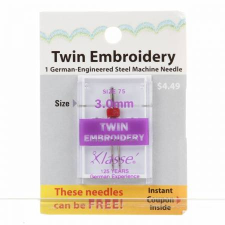 Klasse Machine Needle Twin Embroidery 3.0mm