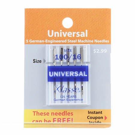 Klasse Machine Needle Universal 100/16