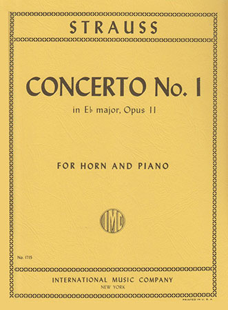 Concerto No. 1 for Horn and Piano by Strauss