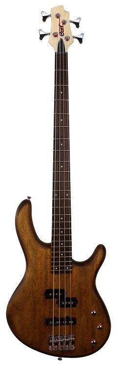 Cort Action Electric Bass 4-String Open Pore Walnut