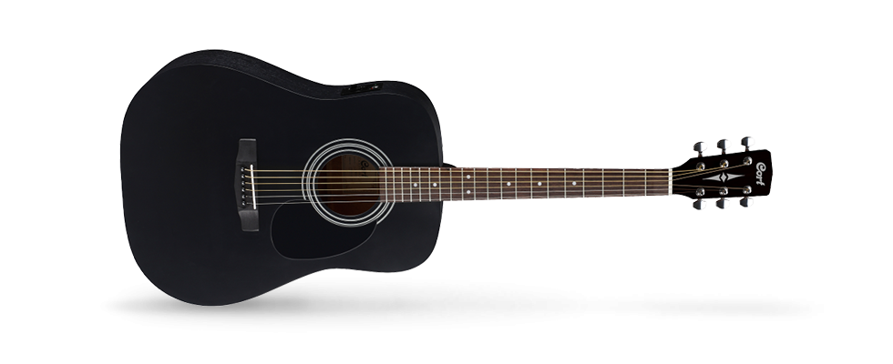 Cort Acoustic/Electric Guitar Black Satin AD810EBKS