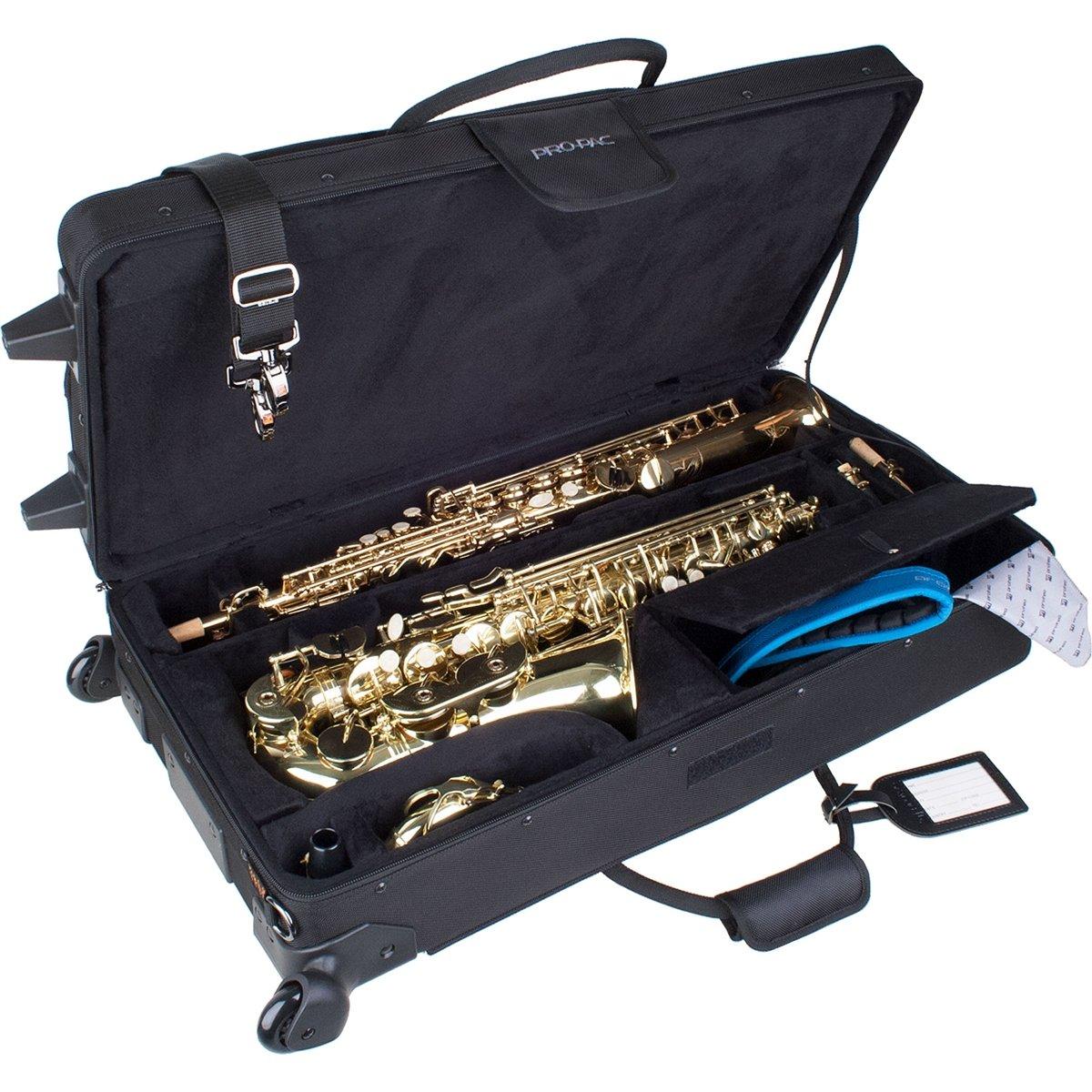 Protec Propac Alto & Soprano Sax Combo Case with Wheels