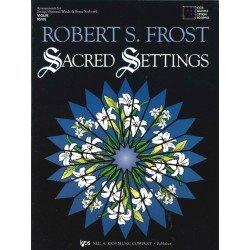 Sacred Settings by Robert S. Frost Piano/Organ/Guitar (# 95PA)