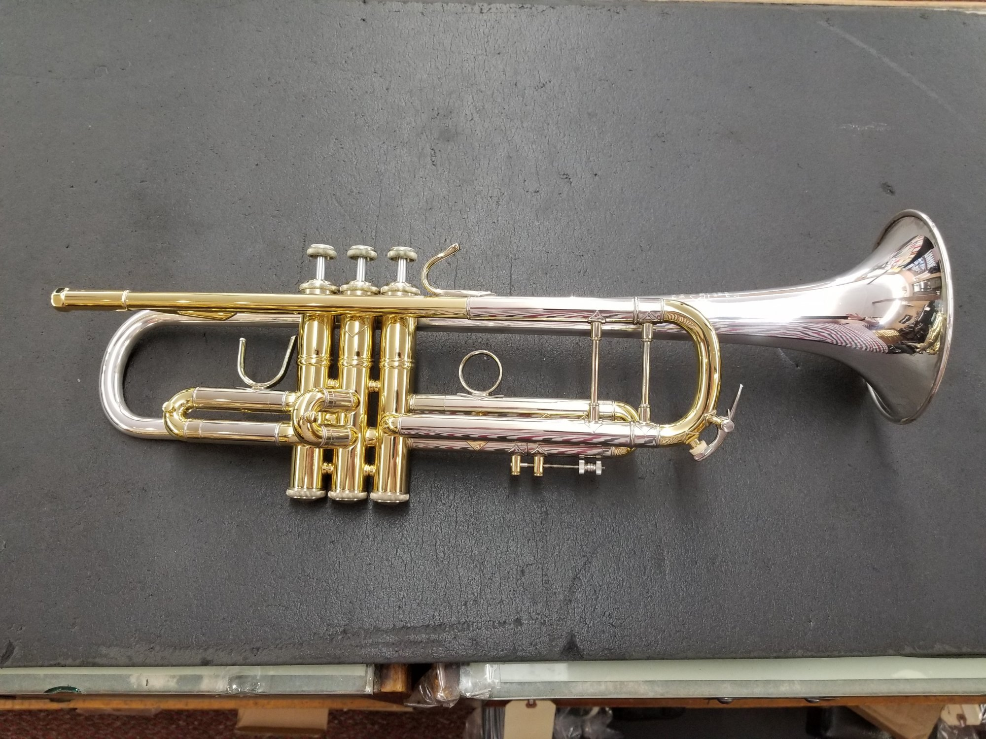 Used Bach Strad 37 Trumpet Sterling Silver Bell