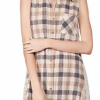 A'reve lace panel blouse dress