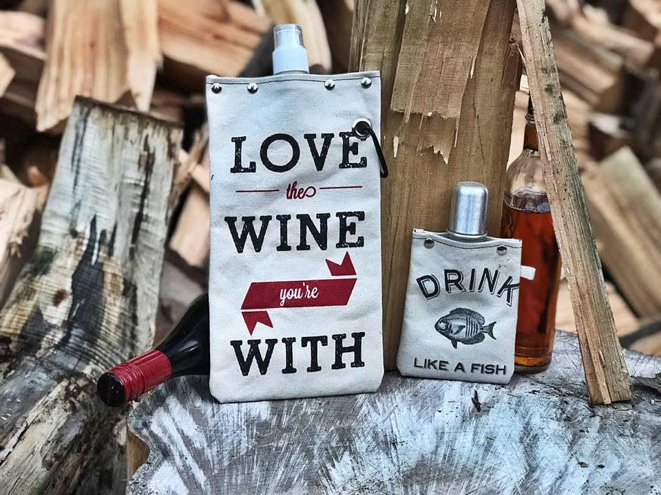 Tote + able wine flask