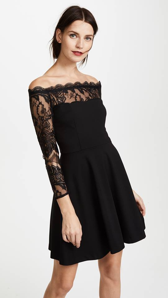 BB Dakota lace sleeve fit and flare