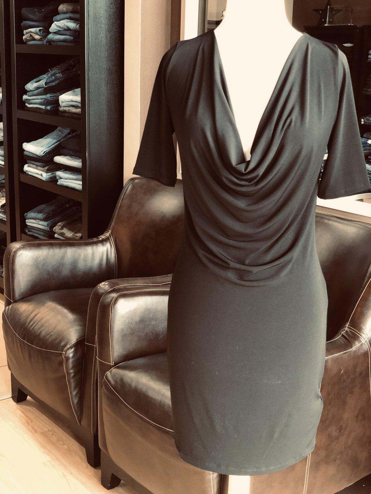 Veronica M cowl neck sheath dress