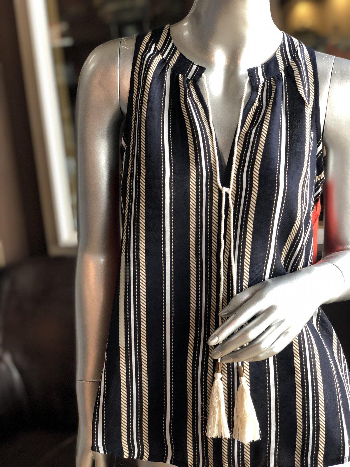 THML sleeveless tassel blouse