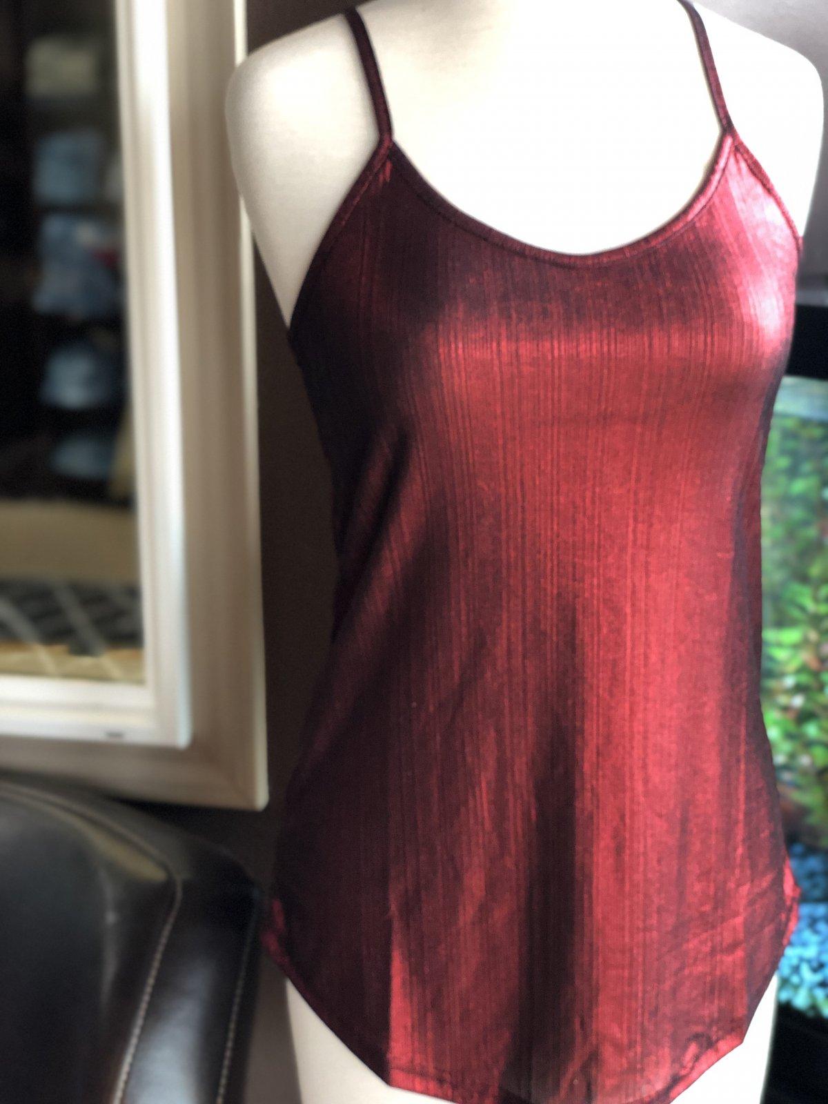 Angie textured metallic cami