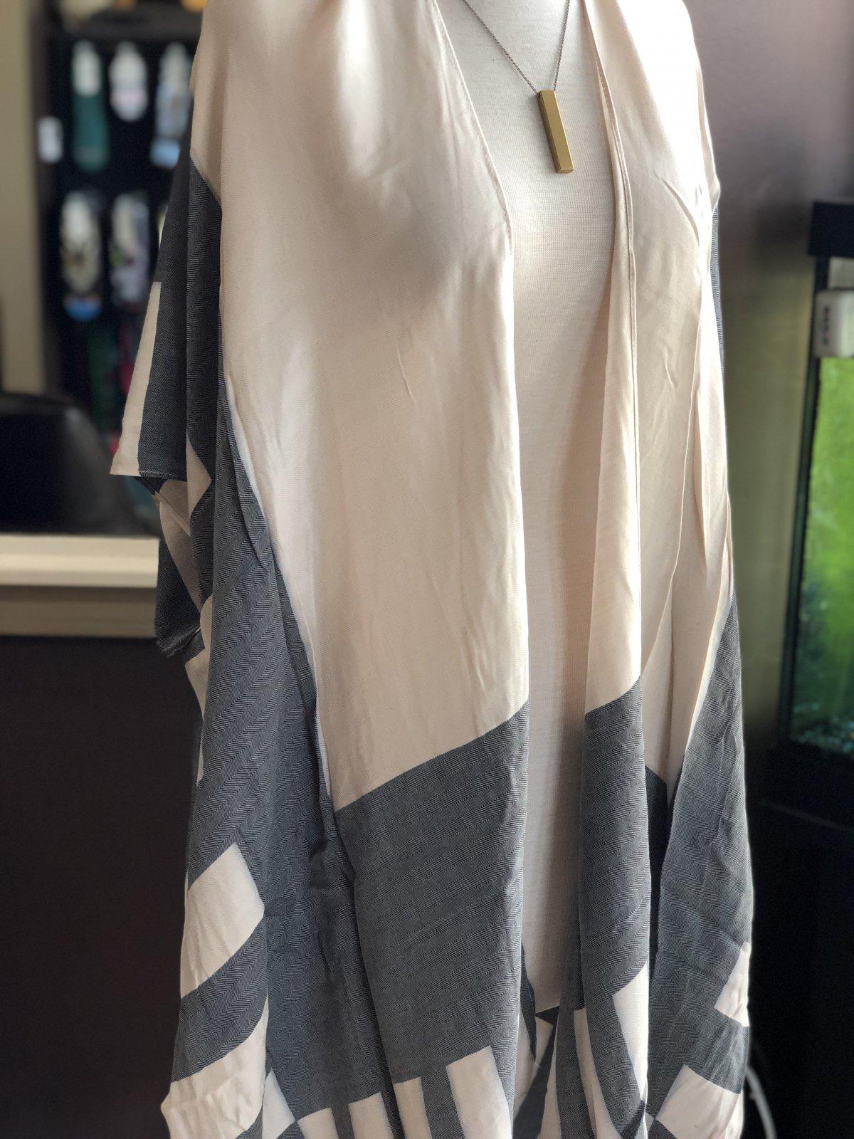 Angie striped kimono