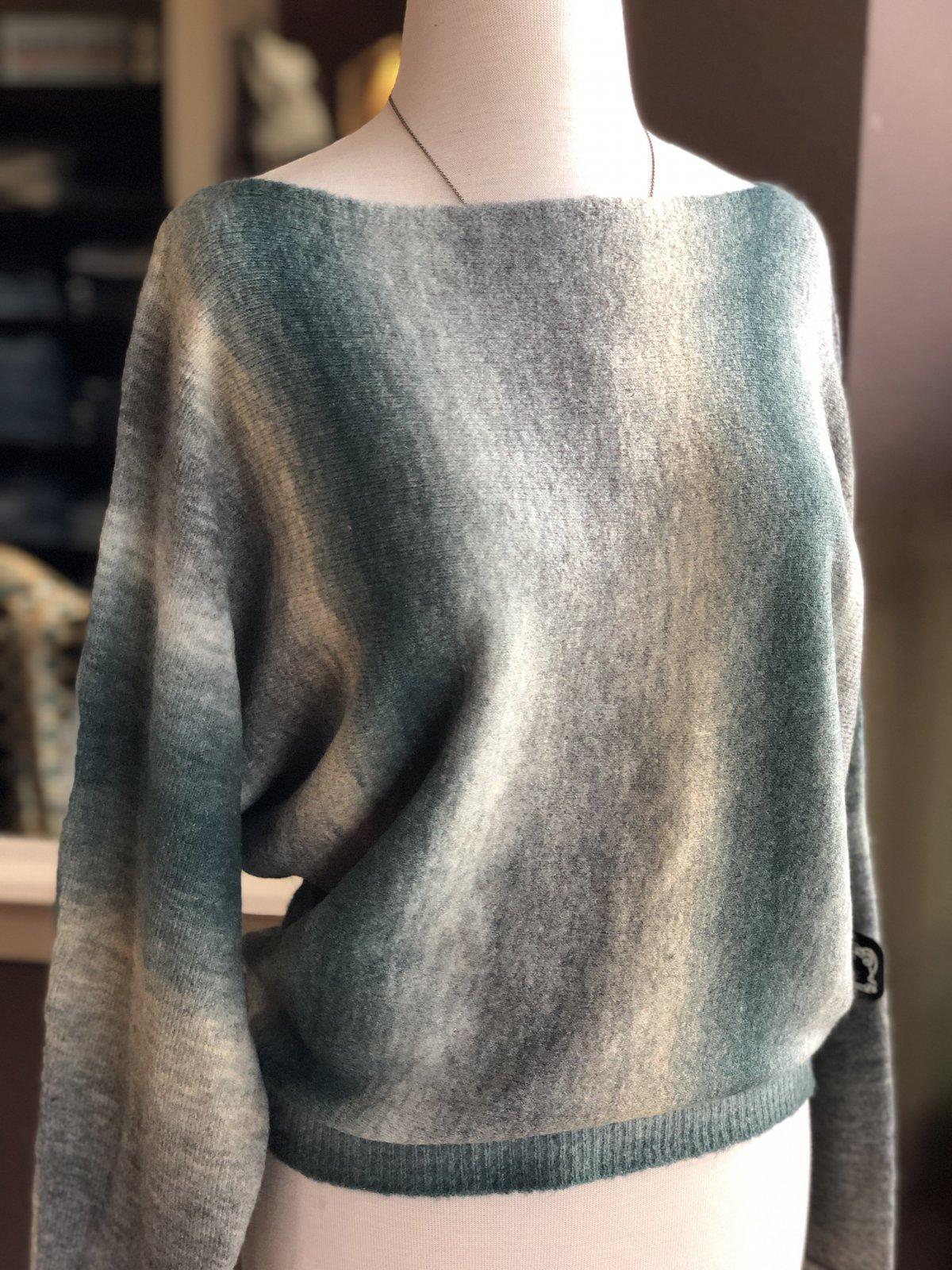 Angie bat wing sweater