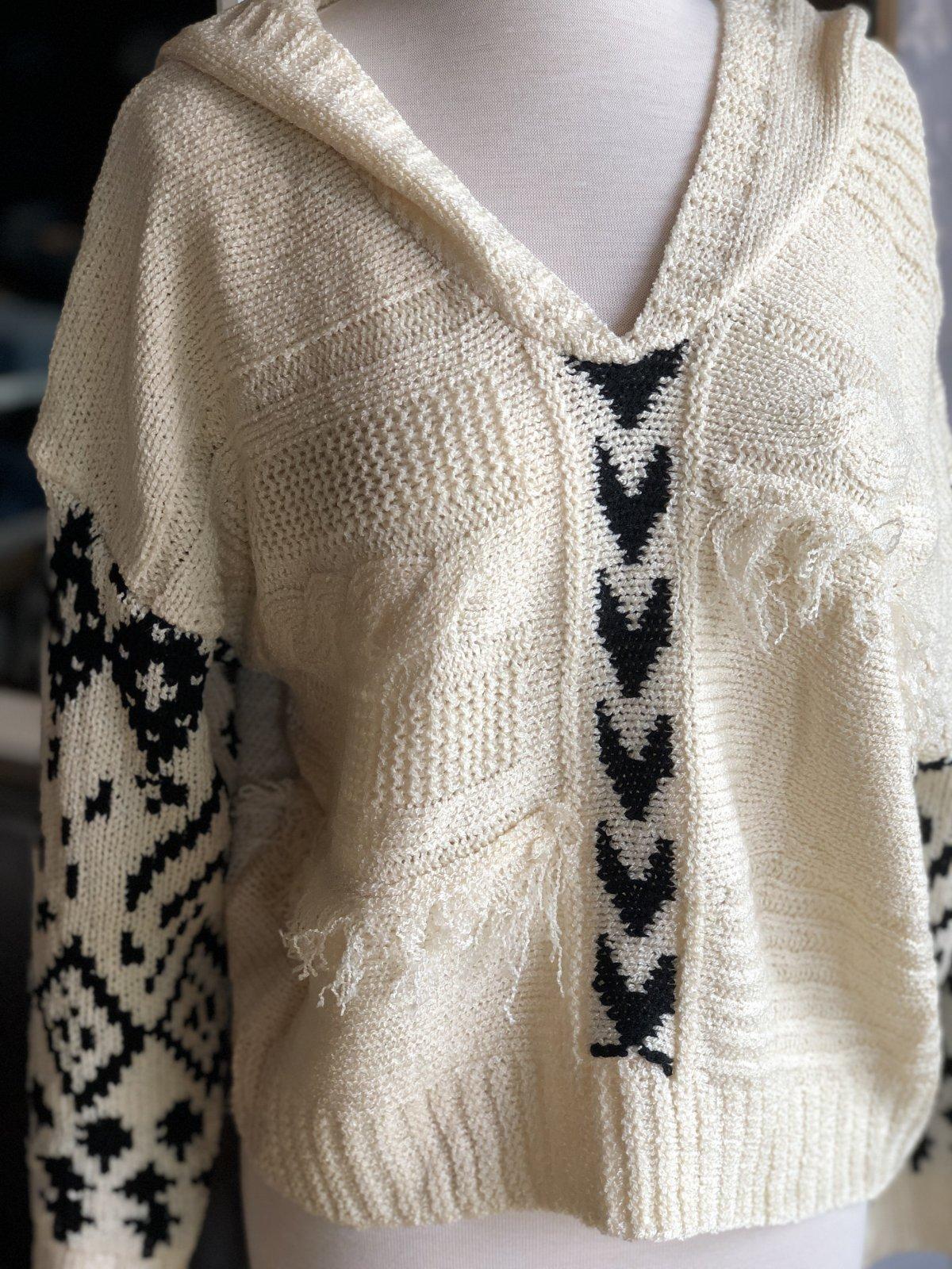 Pol boho hooded sweater