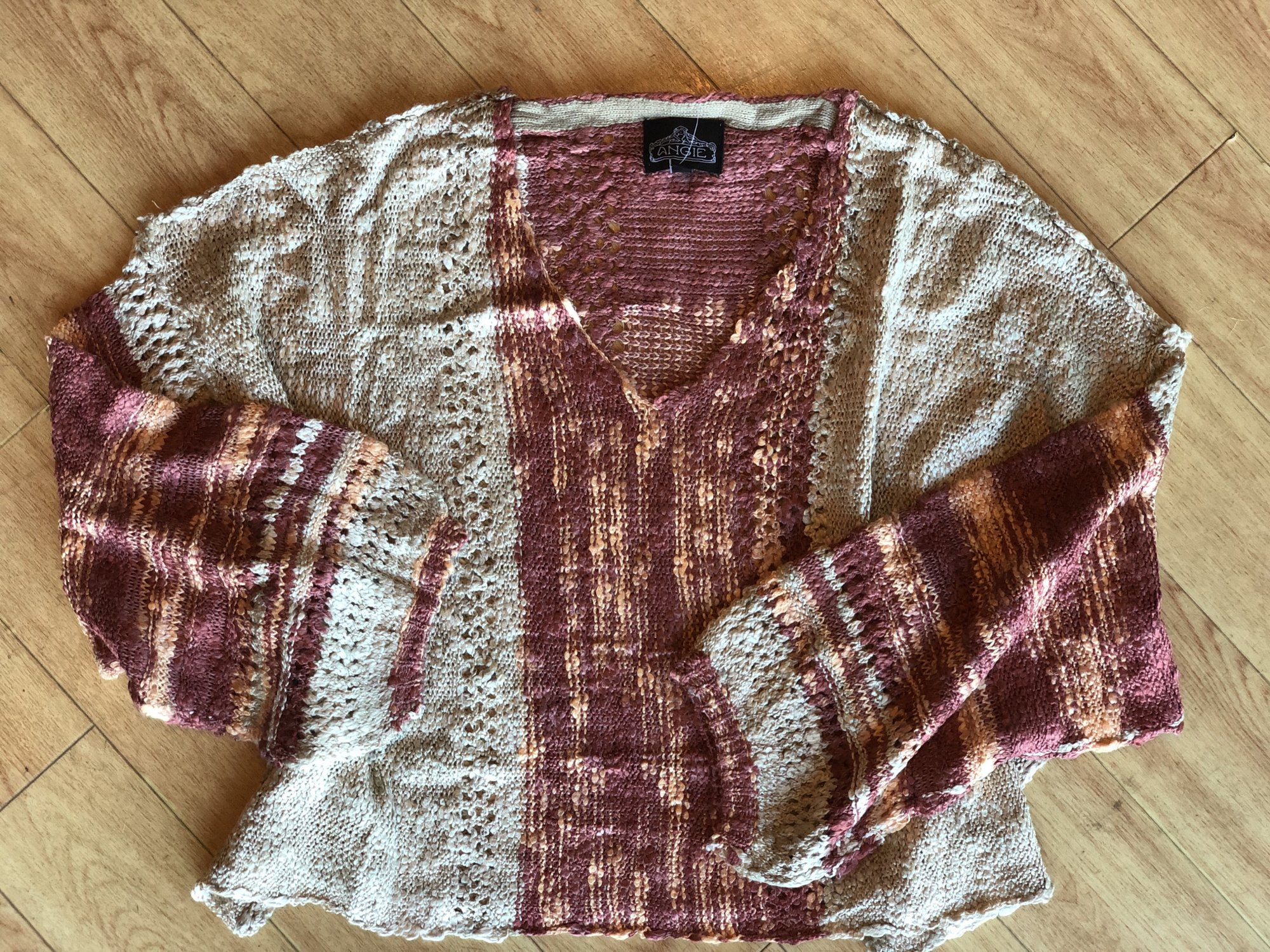 Angie crop pullover sweater