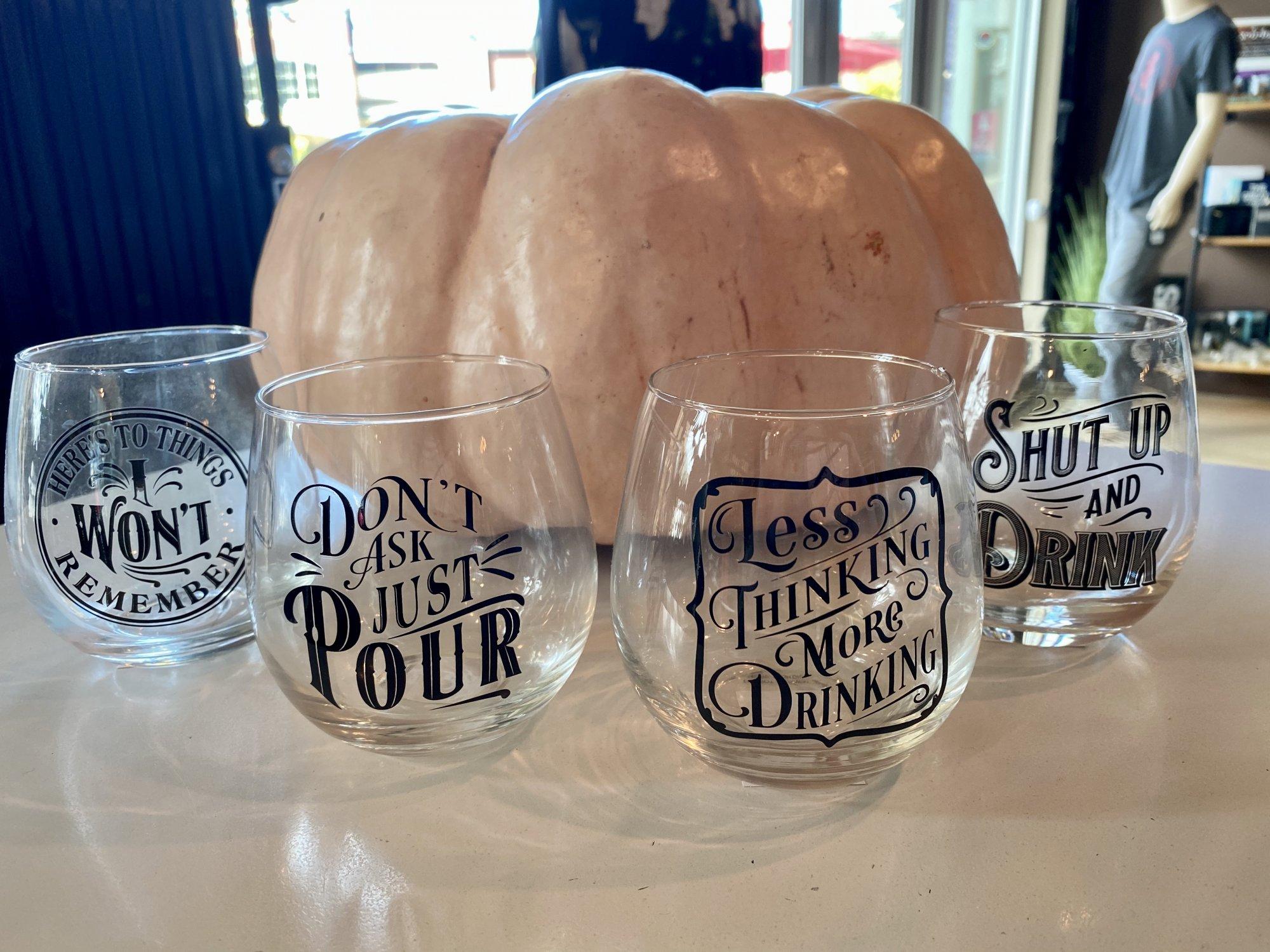 Gift Craft stemless wine glasses