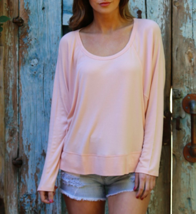 Angie slouchy knit top